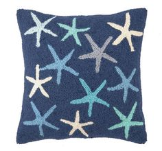Scattered Starfish Hook Pillow