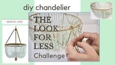 diy beaded chandelier (cheap) (easy) | sea glass |THE LOOK FOR LESS CHAL...