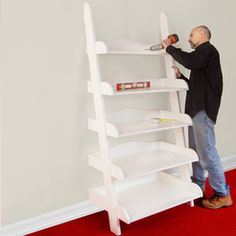 This ladder shelf requires a bit more skill than I have...but these shelves are ridiculously priced in the stores, so if you or someone you know can build it, you'll save a bundle :)