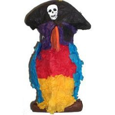 Polly Wanna Pinata Unfilled Pirate Parrot