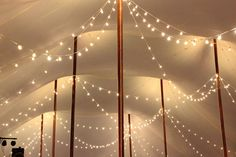 Goodwin Events string lighting in one of our sailcloth tents