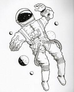 #Astronaut #Space #Uzay #Cosmos #Galaxy #Drawing #Art #Illustration Amazing Follow for more! Tumblr: @Bedenehapsedilenruhlar Instagram➡️@artwoonz