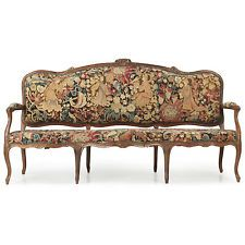 Rare French Louis XV Walnut Antique Settee Canapé Sofa, 18th Century c. 1750