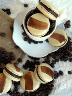 Macarons, Panna Cotta, Pancakes, Muffin, Breakfast, Ethnic Recipes, Food, Morning Coffee, Dulce De Leche