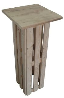 Palettes de Solutions Strasbourg: Mange Debout Palettes Bar En Palette, Palette Deco, Bar Table Diy, Palette Projects, Standing Table, Bois Diy, Pallet Bar, Pallet Furniture, Wood Pallets