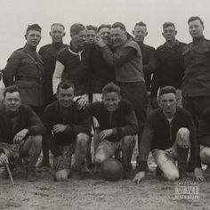 """Soccer in World War I had its place as entertainment behind the lines and in the home countries. By December 1917, """"every British platoon was issued a regulation ball. Even the Americans played soccer,"""" wrote historian Stanley Weintraub."""