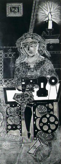 Antonio Berni-Ramona costurera xilografia