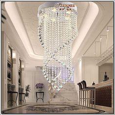 Modern Crystal Chandelier Light Fixture Crystal Pendant Ceiling Lamp Luster