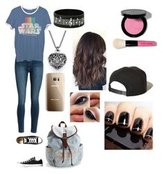 """""""Just a normal day"""" by kshaye2002 ❤ liked on Polyvore featuring Junk Food Clothing, Converse, Samsung, Aéropostale, Bobbi Brown Cosmetics and Brixton"""