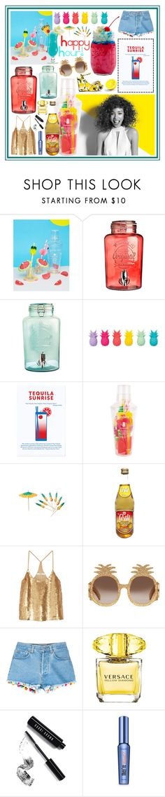 """""""Happy Hour!"""" by beanpod ❤ liked on Polyvore featuring Sunnylife, TIKI, Kilner, Paul Mitchell, Dolce&Gabbana, TIBI, Gucci, Forte Forte, Versace and Bobbi Brown Cosmetics"""