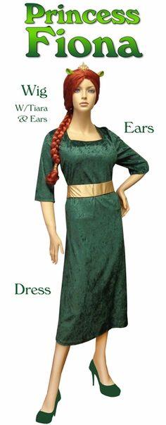 Princess Fiona Shrek Plus Size Supersize Halloween Costume + Add Accessories!  sc 1 st  Pinterest & Princess Fiona Costume Adult #Halloween #costumes #Amazon ...