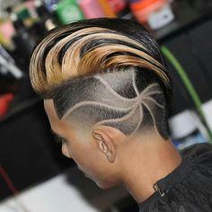 Best Haircut Designs For Guys - Best Hair Designs For Men: Cool Fade Haircut Designs For Guys and Boys Cool Haircuts, Hairstyles Haircuts, Haircuts For Men, Cool Hairstyles, Old School Barber, Haare Tattoo Designs, Haircut Designs For Men, Design Haircuts, Short Hair Cuts