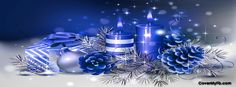 Blue Christmas Decos Facebook Cover