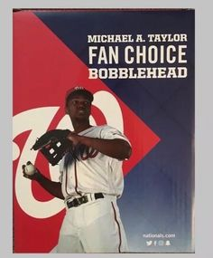 2016 Nationals MICHAEL TAYLOR Bobblehead Washington ROOKIE Bobble Stadium SGA  | eBay
