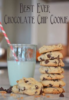 """This is the an old fashioned chocolate chip recipe that is divine! The cookies are moist, keep for at least a week, and are great even after being frozen.  Makes 4 dozen cookies, turn out perfect every time and will become your """"go-to"""" recipe for bringing treats anywhere! via lifeingrace"""