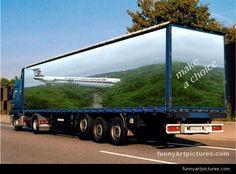 Photoshop design, Landing plane truck #FreightCenter #marketing