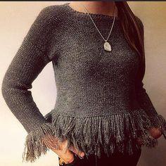 Fringe Sweater de AprizityKnitwear en Etsy
