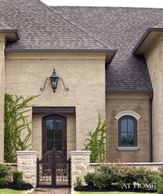 Dream Home: Exterior Brick Treatments, Slurry Mortar Wash Exterior Colors, Exterior Paint, Exterior Design, Br House, House Front, Front Door Colors, Front Door Decor, French Cottage, French Country House