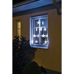 Konstsmide White LED Curtain Style Star Set