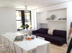 Graham Hill, tiny house: il monolocale di 32 m2 che si trasforma in una casa di 8 stanze