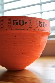 Ticket Roll Bowl {wow say that 5 times fast, hehe}  I have been making these for some years now.  They make the perfect vessel to give gifts...