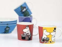 Moomin Collectibles: The Moomin Valley children's book series by Finland's Tove Jansson is immortalized by iittala in porcelain bowls, mugs and plates; as well as in textile from Ekelund and tableware from Opto Design. These fun and unique collectibles from Finland are a great gift for people of all ages.