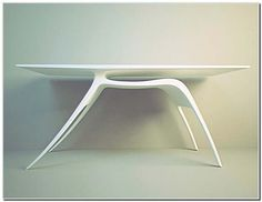 organic lines on table