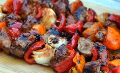 These spicy pork & pepper shish kabobs are a must have recipe. They are easy, remarkably dependable and totally delectable. The sauce can be prepared in a matter Pork Recipes, Cooking Recipes, Skewer Recipes, Dishes Recipes, Pork Dishes, Meal Recipes, Side Dishes, Shish Kabobs, Kebabs