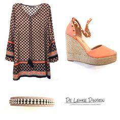 L E N T E!  Op zoek naar een 'paas' outfit? www.deleukedingen.nl #espadrilles #valentinolook #tuniek #studs #armband #ibiza #detemperatuurgaatstijgen