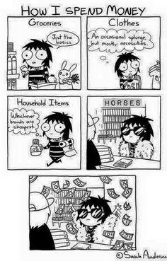 How I spend money on my horse
