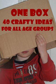 Love these cardboard box crafts. Brilliant.