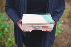 Fair trade, hand-stitched journals from recycled coffee bags by artisans in Haiti. http://www.jesuseconomy.org/collections/cyber-monday-fair-trade-deals