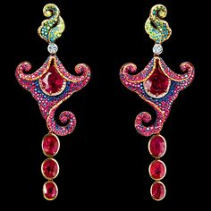 Flowers high jewellery Earrings