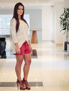 Blog Mariana Saad » Look do dia: tricot com short de veludo