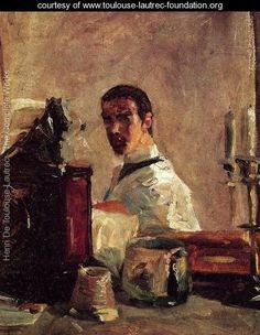 Self Portrait Before A Mirror - Henri De Toulouse-Lautrec - www.toulouse-lautrec-foundation.org