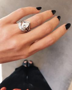 Looking for the perfect wedding band? Our ultimate guide to matching a wedding band to an engagement ring will help you find it! Stacked Wedding Bands, Curved Wedding Band, Yellow Engagement Rings, Vintage Engagement Rings, Yellow Gold Rings, White Gold, Natalie Marie Jewellery, California, Types Of Rings