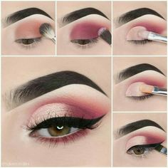 Makeup tutorial step by step - dress models - # eyeshadow looks . - Make-up tutorial step by step – dress models – Looks step by step the # - Makeup Eye Looks, Eye Makeup Steps, Cute Makeup, 80s Makeup, Dress Makeup, Glam Makeup, Sally Makeup, Barbie Makeup, Clown Makeup
