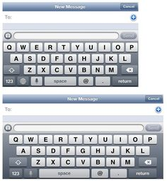 Of course, the additional 176 pixels in height translates into additional lateral space when the device is in landscape orientation. For example, in Messages on iPhone 5 (shown here below Messages on iPhone 4S), the UI stretches to fill the additional width.