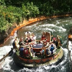 Kali River Rapids in Animal Kindom; fun ride but be warned You will get soaked (no matter where you sit or what you do) on this ride. I wore a Pancho once and I still got wet mention my shoes. A great ride for a hot day though