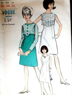 Vogue Dress Pattern No 6531 Vintage 1960s Size by CaliforniaSunset, $12.00