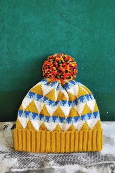 PomPom Beanie Hat Festival by the Sea by YuSquare on Etsy, NT$1590.00
