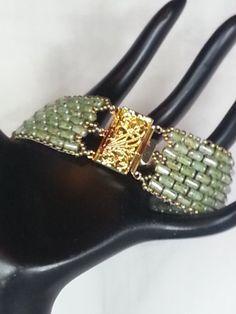 Pale Green Rulla bead Bracelet by MNVenturesDesigns on Etsy, $40.00