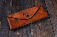 Gepersonaliseerde koppeling lederen Clutch portemonnee bruiloft clutch tas…