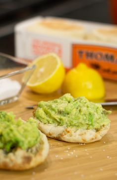 Avocado and Sea Salt English Muffins: Create an exclusive recipe from celebrity Chef Tim Love for snack time by mixing avocado with fresh lemon juice, a dash of salt, and a drizzle of olive oil. Pile on top of a Thomas' Original English Muffin and enjoy!
