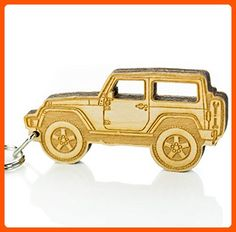 Key Chain for Jeep Enthusiasts - Wooden JK / JKU / Wrangler / Rubicon Model Key Chain, A Great Gift Idea For Any Jeep Enthusiasts! Built By Wrenches & Bones For Jeep Wrangler Accessories (JK) - Little daily helpers (*Amazon Partner-Link)