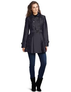 Kenneth Cole Women's Cotton Sateen Trench Pleated Skirt $79