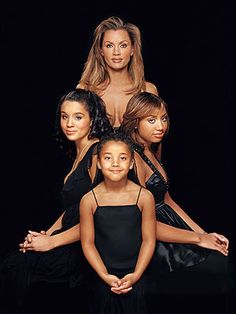 I don't care for Vanessa's boobies hanging out, but I love the composition!    Vanessa Williams - mother & daughters