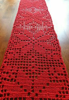 sale christmas table runner crochet doily crochet tablecloth christmas doily red table decor patterned table runner 59 x 67 in - PIPicStatsA bottle of wine or drinks themed basket is a classic gift - and you can make it even better by including these Filet Crochet, Thread Crochet, Crochet Crafts, Hand Crochet, Crochet Lace, Crochet Stitches, Crochet Projects, Crochet Flowers, Crochet Quilt