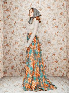Ulyana Sergeenko  I love this skirt!!