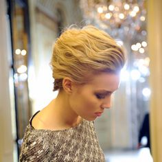 Sweeping updo from the Rami Al Ali show at Paris Couture week